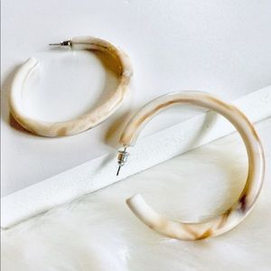 💌 Thick Acrylic Resin Hoops /Sterling Posts